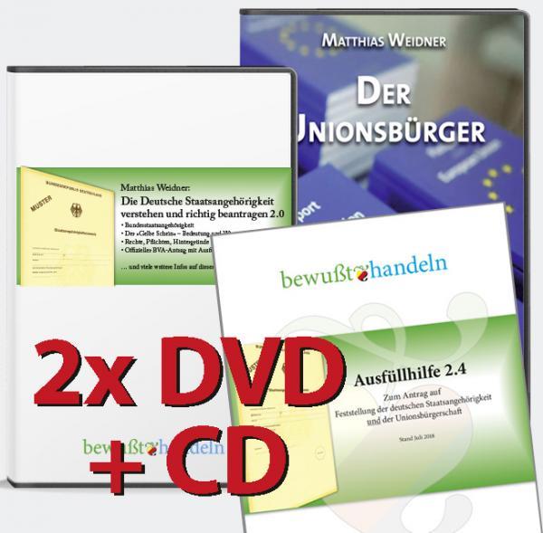 """DVD-Paket: """"Deutsche Staatsangehörigkeit"""" + """"Der Unionsbürger"""" inkl. Ausfüllhilfe 2.4  Bewußt-Treff"""