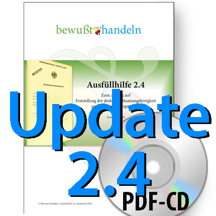Update Ausfüllhilfe 2.4 auf CD; nur für frühere Versionen (vor August 2018)  Bewußt-Treff