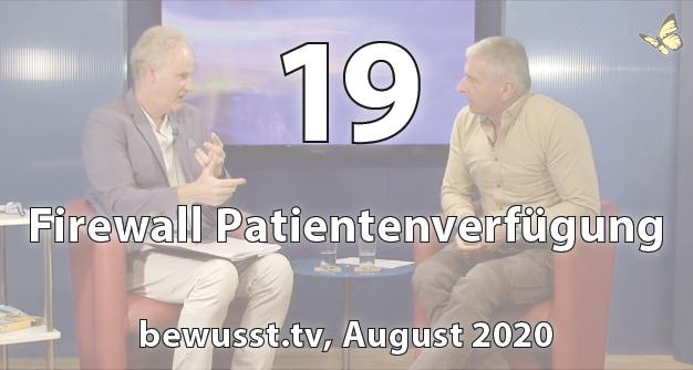 19: Firewall Patienten-verfügung (August 2020)